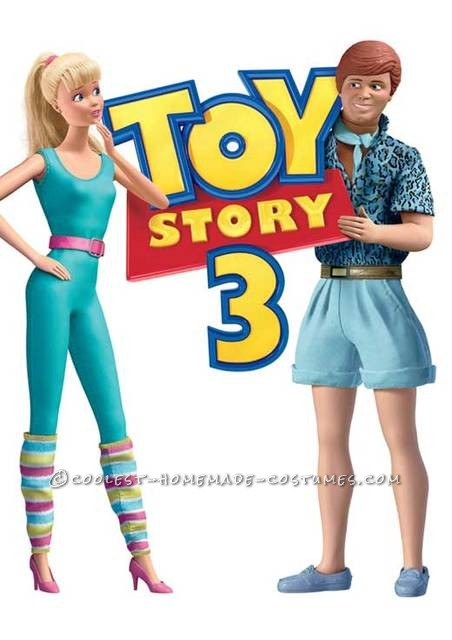 Awesome Homemade Ken And Barbie Toy Story 3 Couple Costume