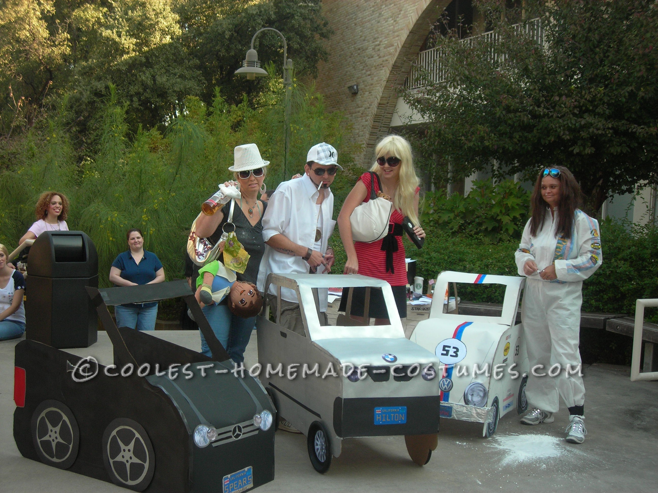 Funny Group Costume for Halloween: KFED and the Hollywood Bad Girls