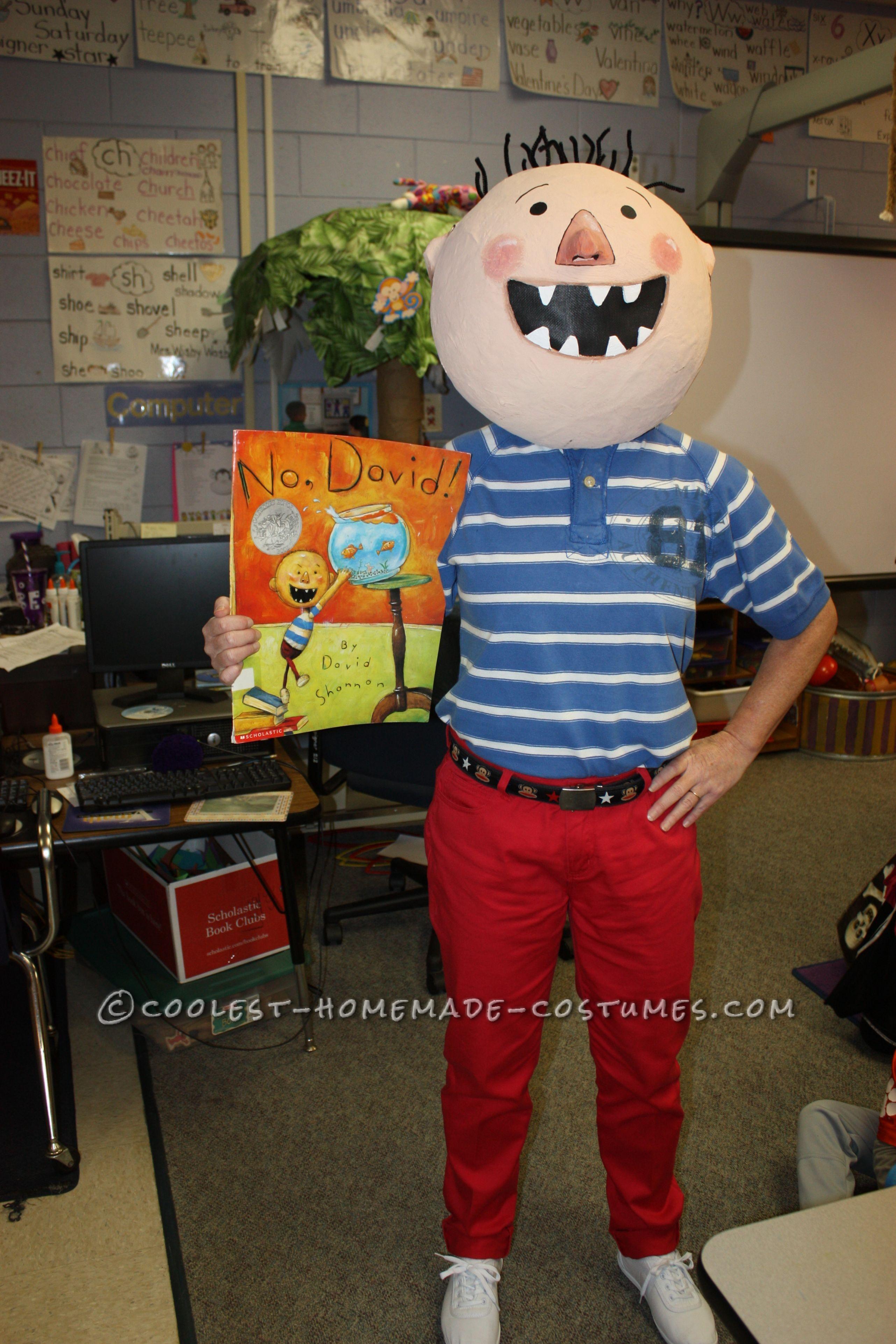 "Fun DIY Costume by a Kindergarten Teacher: David from ""No, David!"" Children's Book"