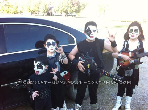 Child DIY Group Costume: KISS Band