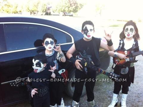 Child DIY Group Costume: KISS Band