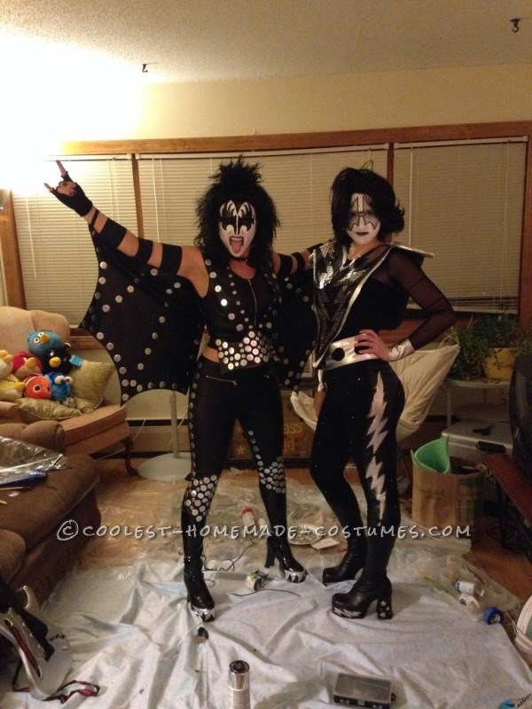 Cool Homemade KISS Group Halloween Costume
