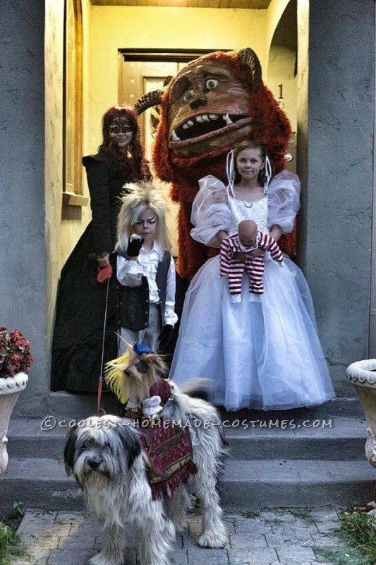 Cool Homemade Labyrinth Family Costume