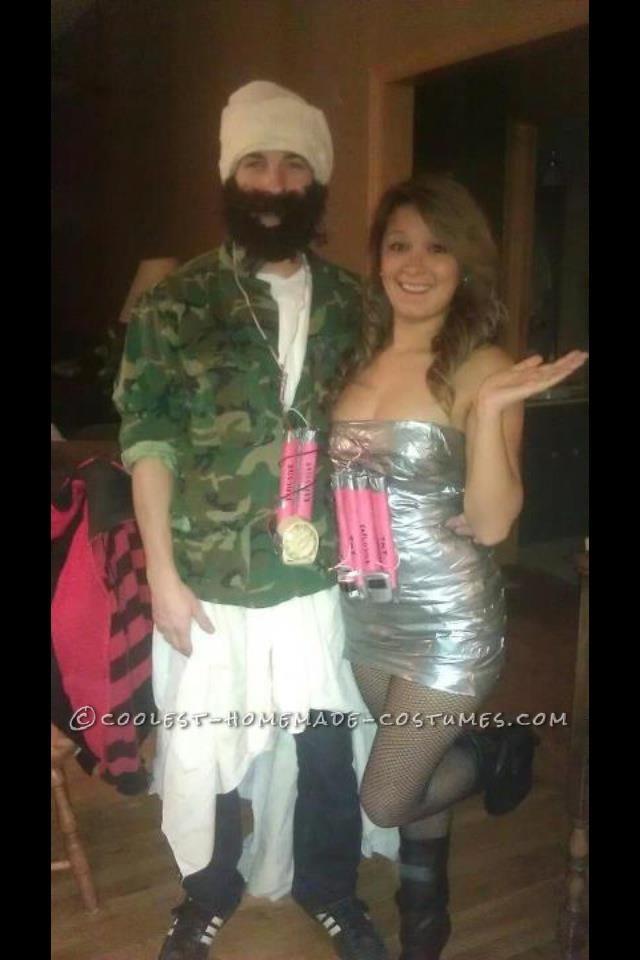 Last Minute DIY Osama Bin Ladin and His Homemade Bomb Costume