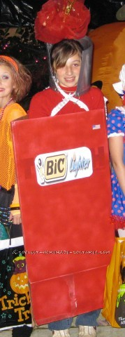 Last-Minute Homemade Costume Idea: Bic Lighter