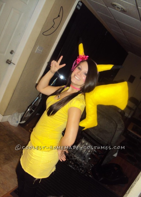 Last-Minute Homemade Pikachu Costume