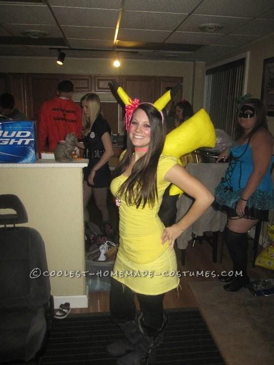 Last-Minute Homemade Pikachu Costume - 3