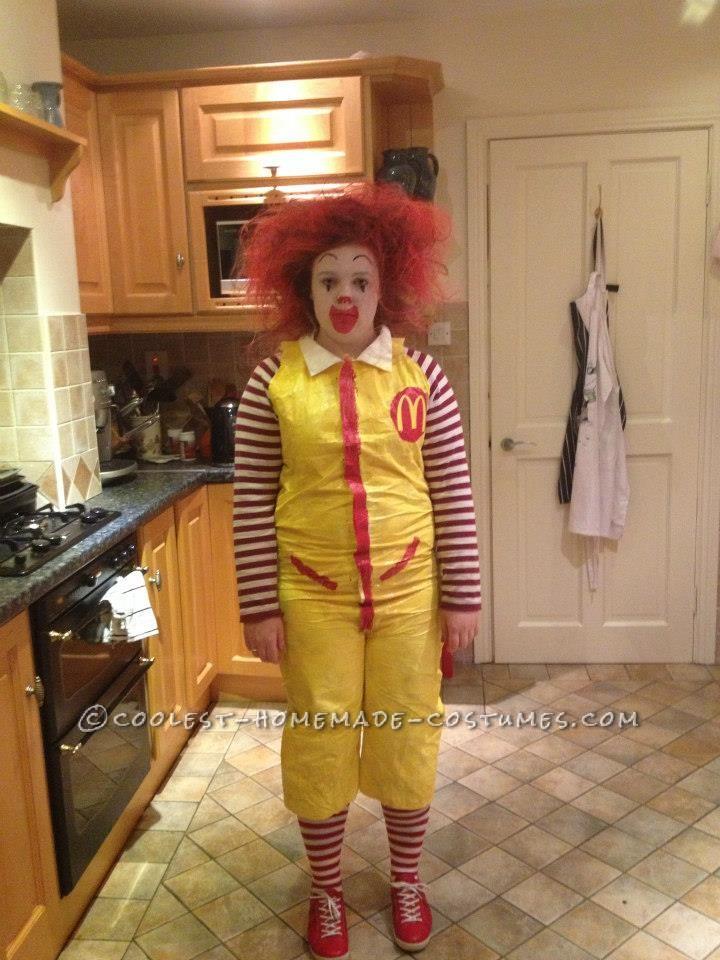 Last-Minute Ronald McDonald Costume