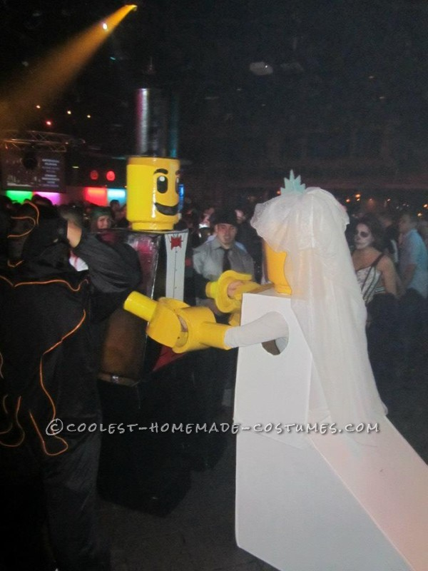 Cool Homemade LEGO Bride and Groom Couple Halloween Costume - 1