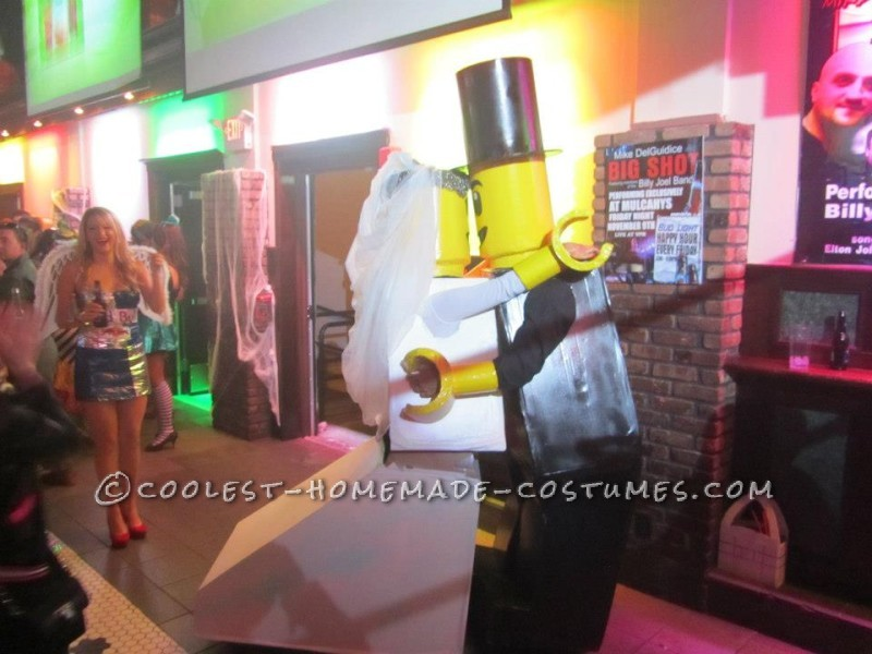 Cool Homemade LEGO Bride and Groom Couple Halloween Costume - 2