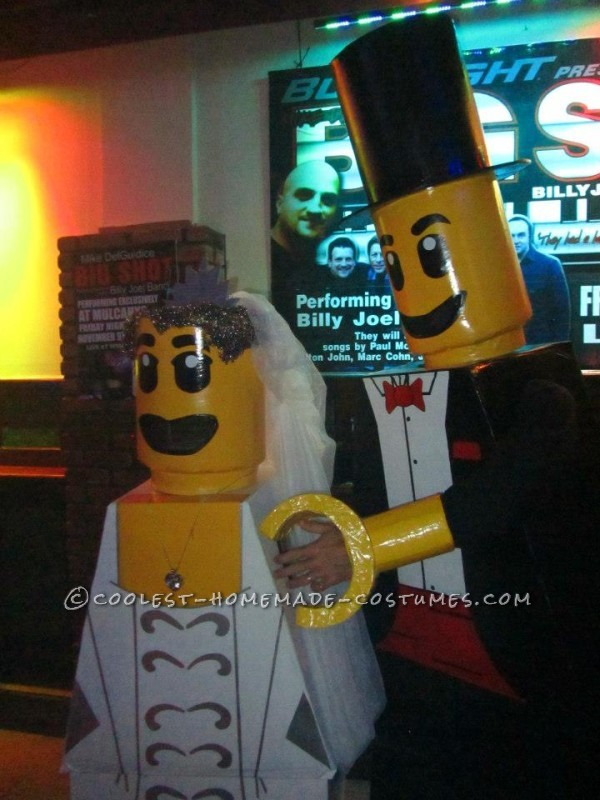 Cool Homemade LEGO Bride and Groom Couple Halloween Costume - 3