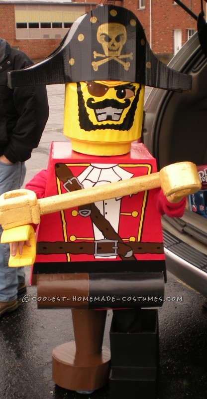 Prize-Winning Homemade Lego Minifig Pirate Costume for a 6 Year Old Boy