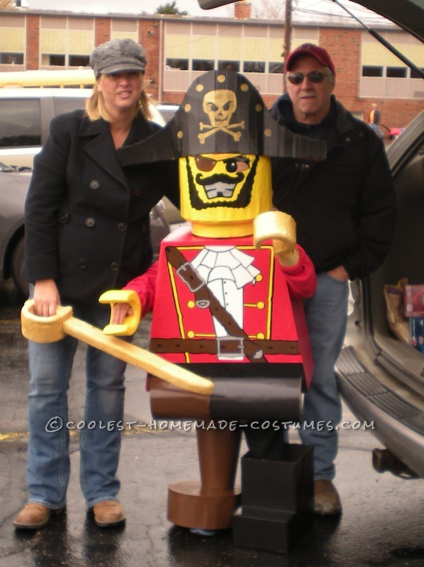 Prize-Winning Homemade Lego Minifig Pirate Costume for a 6 Year Old Boy - 2
