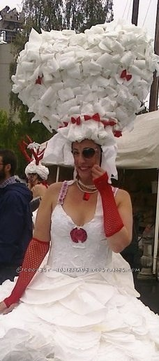 Homemade Cake Costume Made from Coffee Filters!