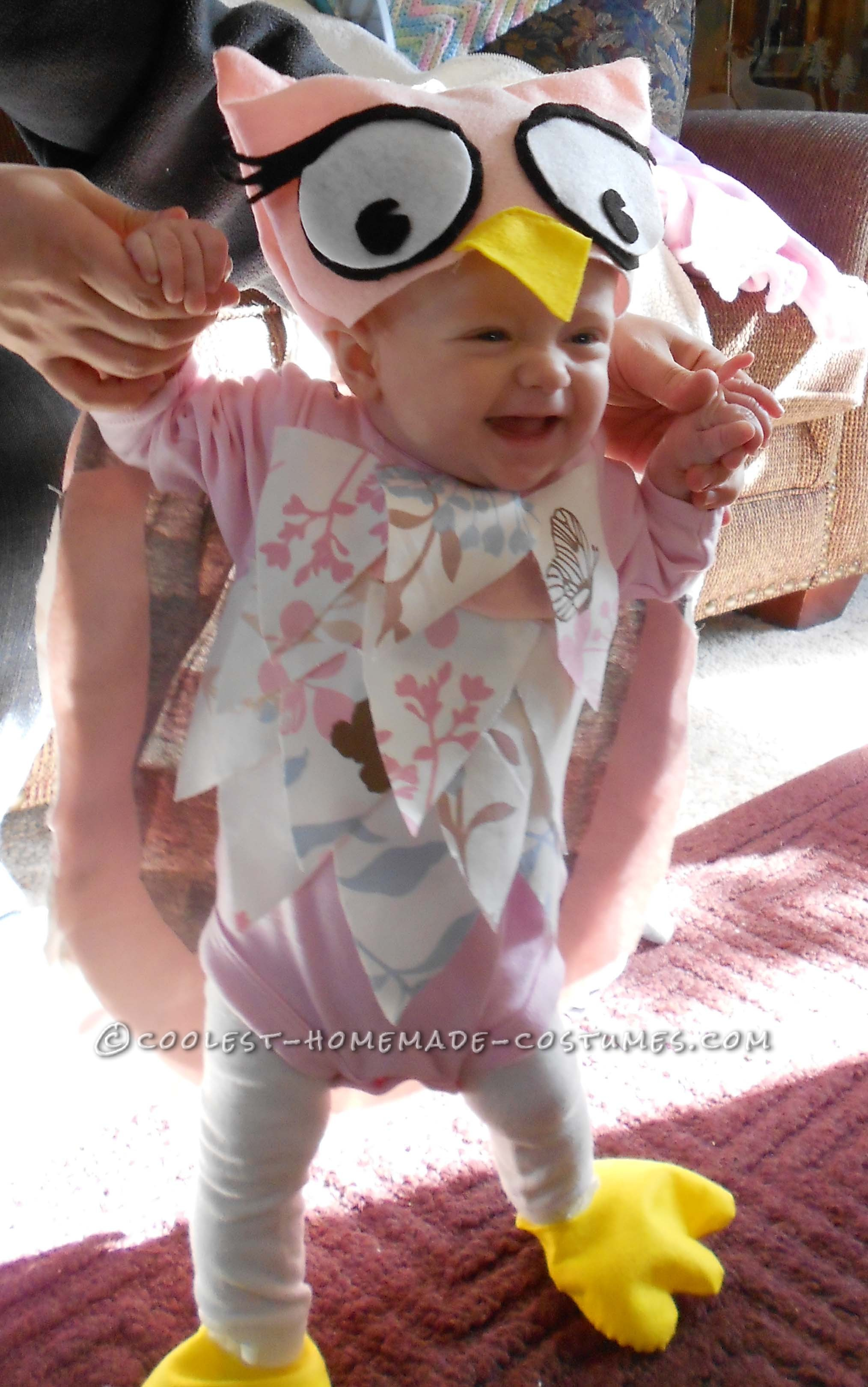Sweet Homemade Halloween Baby Costume: Little Owl