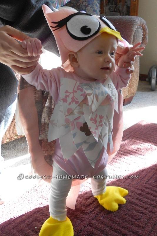 Sweet Homemade Halloween Baby Costume: Little Owl - 1