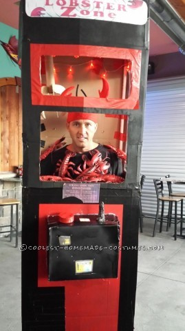 Cool Homemade Lobster Zone Claw Machine Costume