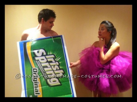 Loofah and Bar of Soap Couples Halloween Costume