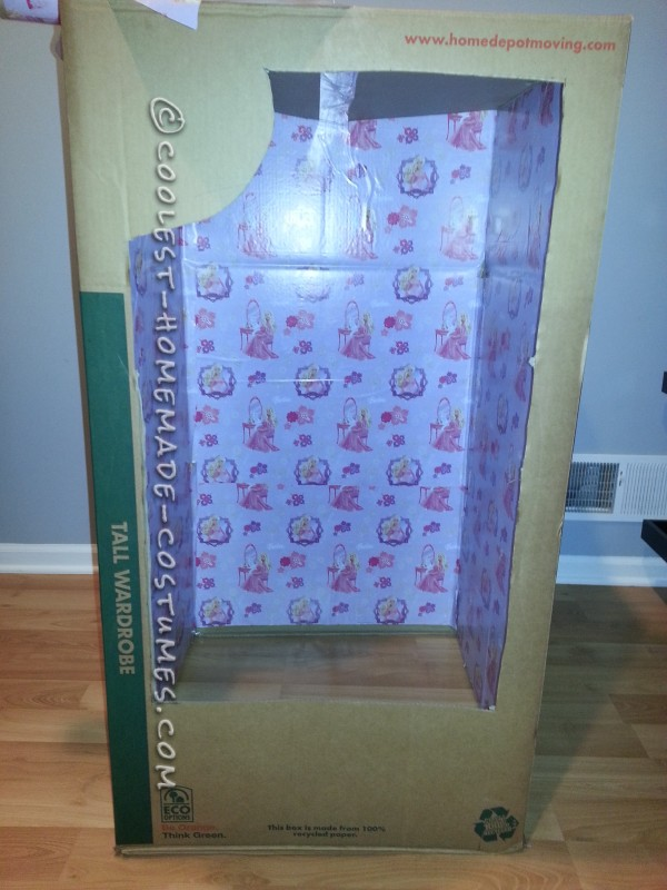Look-a-Like Wedding Day Barbie-in-a-Box Homemade Halloween Costume - 2