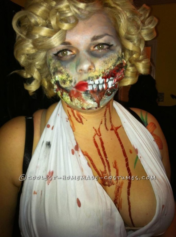 Coolest Homemade Marilyn Monroe Zombie Costume