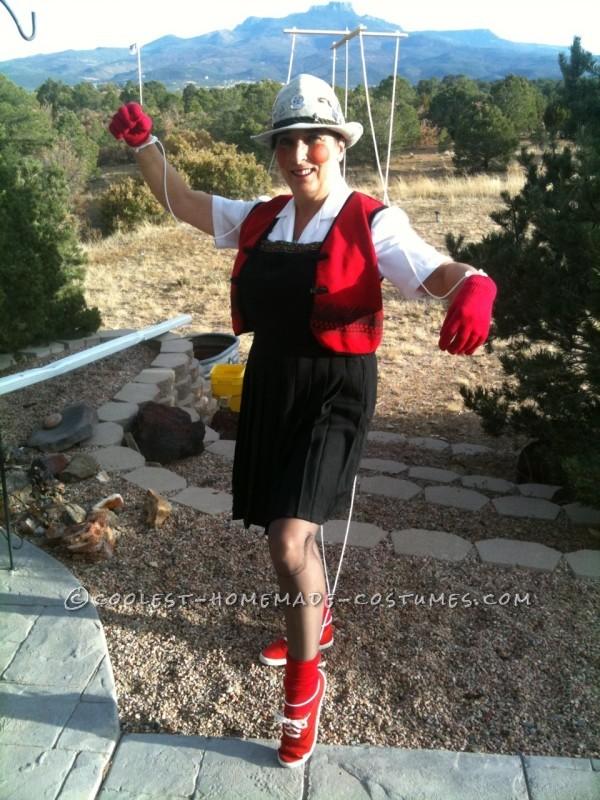 Cool DIY Marionette Pinocchio Costume Idea