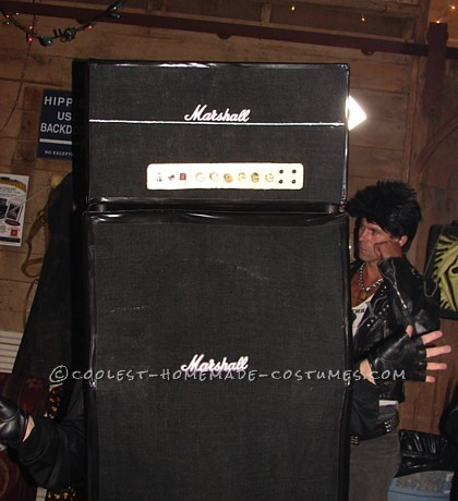 Marshall half-stack costume
