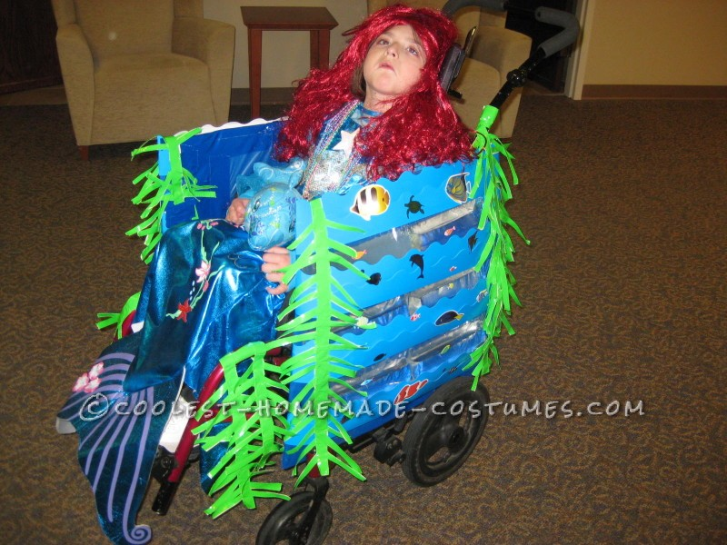Cool Wheelchair Costume Idea: Mermaid in a Wheelchair with Real Water - 2