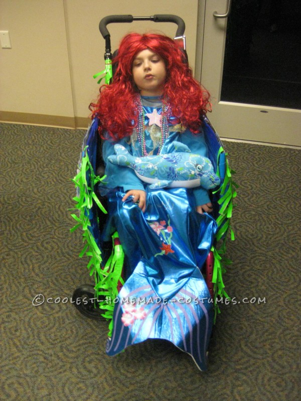 Cool Wheelchair Costume Idea: Mermaid in a Wheelchair with Real Water - 3