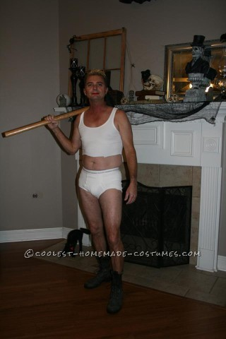 Hilarious Miley Cyrus Wrecking Ball Costume for a Guy