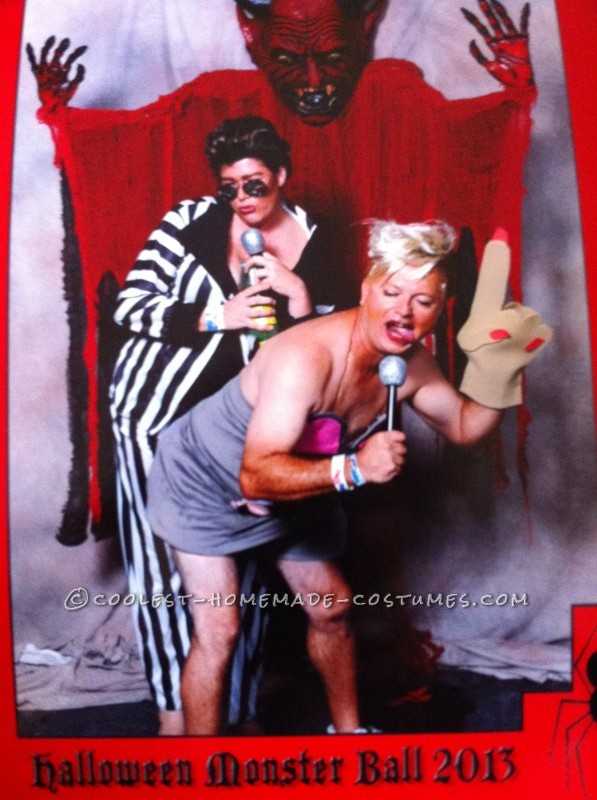 Hilarious Gender-Bend Couple Costume: Miley Twerk It and Robin Thicke