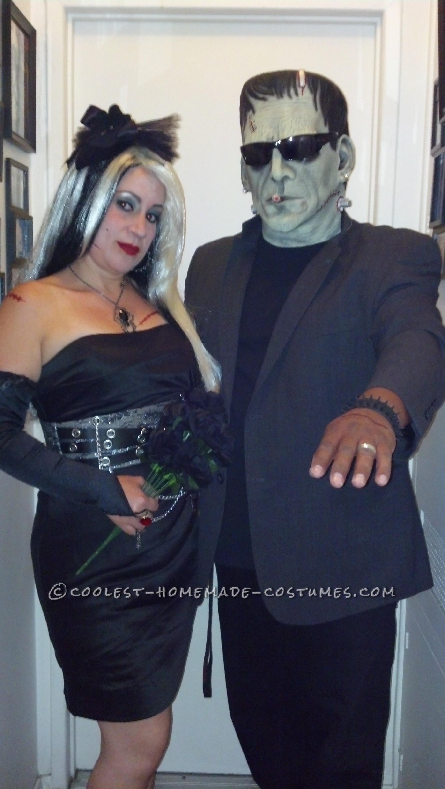 Modern Day Frankenstein and The Bride of Frankenstein Couple Costume