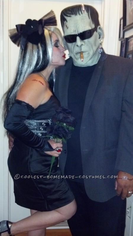 Modern Day Frankenstein and The Bride of Frankenstein Couple Costume - 1