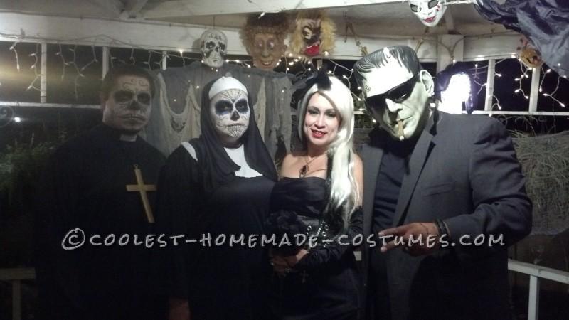 Modern Day Frankenstein and The Bride of Frankenstein Couple Costume - 2