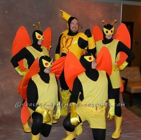 Cool DIY All-Guys Group Costume: Monarch Henchman from The Venture Bros.