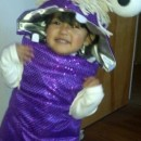 Sweet Little DIY Monsters Inc. Boo Costume for a Toddler