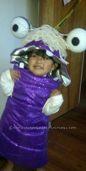 Sweet Little Diy Monsters Inc Boo Costume For A Toddler