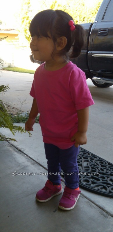 Sweet Little DIY Monsters Inc. Boo Costume for a Toddler - 1