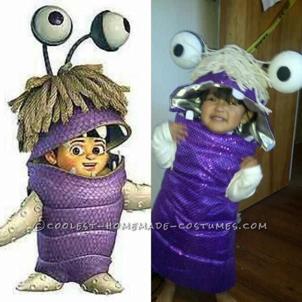 Sweet Little DIY Monsters Inc. Boo Costume for a Toddler - 2