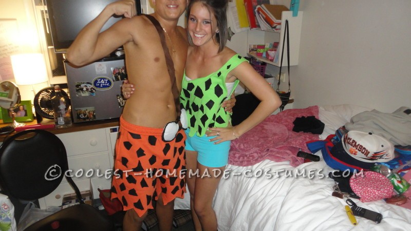 Cute and Sexy Pebbles and Bam Bam Couple Costume - 1