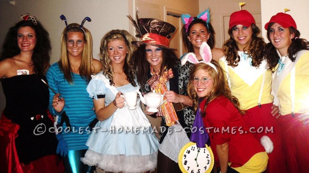 Most Creative Group Costume - Alice in Wonderland!