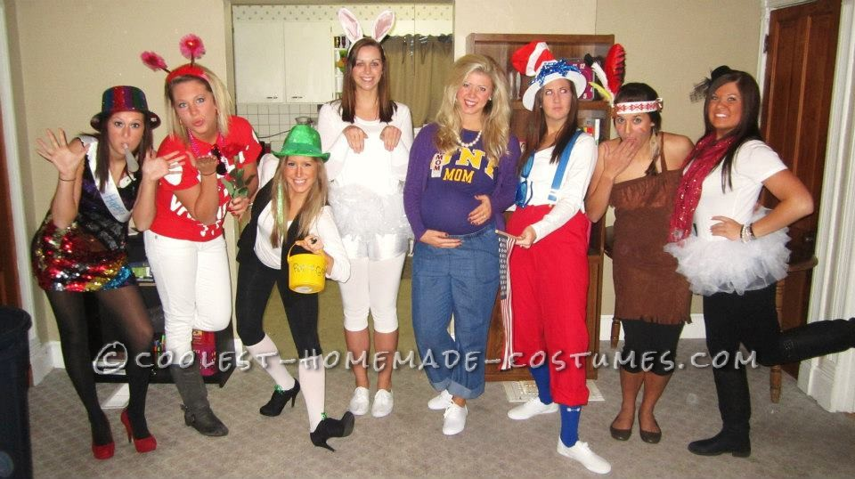 Most Creative Holidays Costume for an All-Girl Group