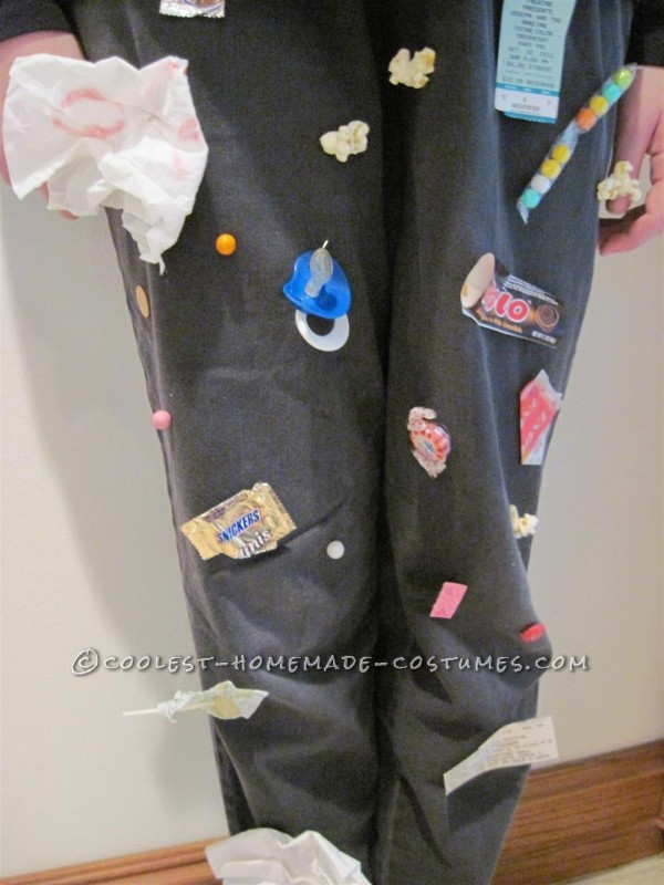 Original and Fun Homemade Costume Idea for a Girl: Movie Theatre Floor