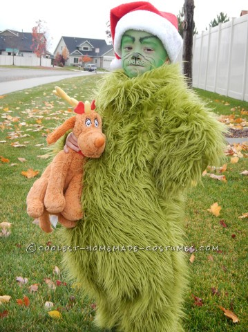 Cool Homemade Halloween Costume: The Grinch Who Stole Christmas (and the Show!)