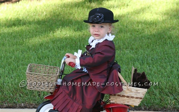 Cool Handmade Toddler Costume: Ms. Gulch with Toto from Wizard of Oz - 2