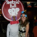 Cool Homemade Couple Costume Idea: Tootsie Roll Pop and Ms. Owl