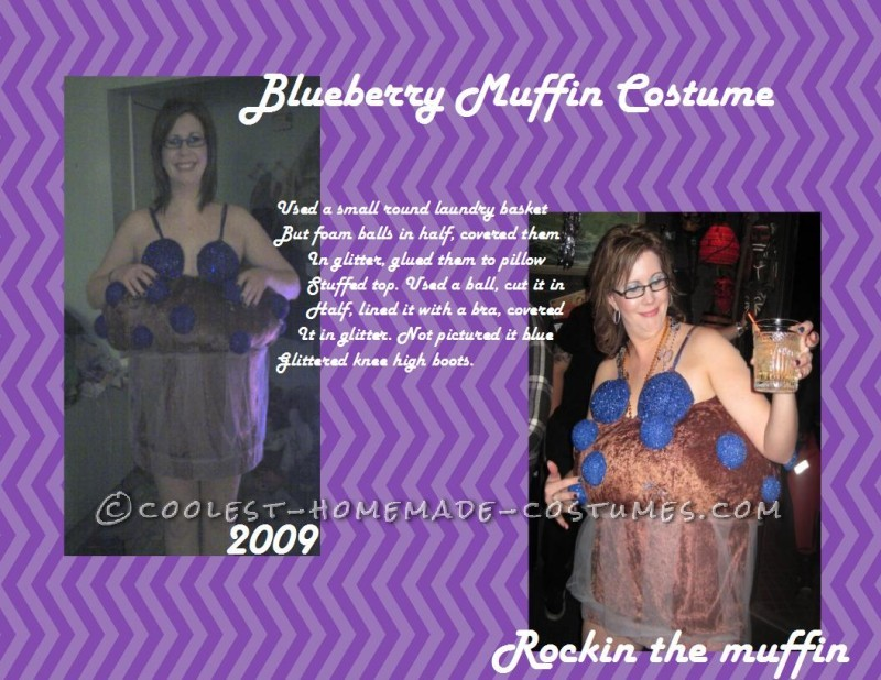 Creative Homemade Muffin Top Costume for a Woman