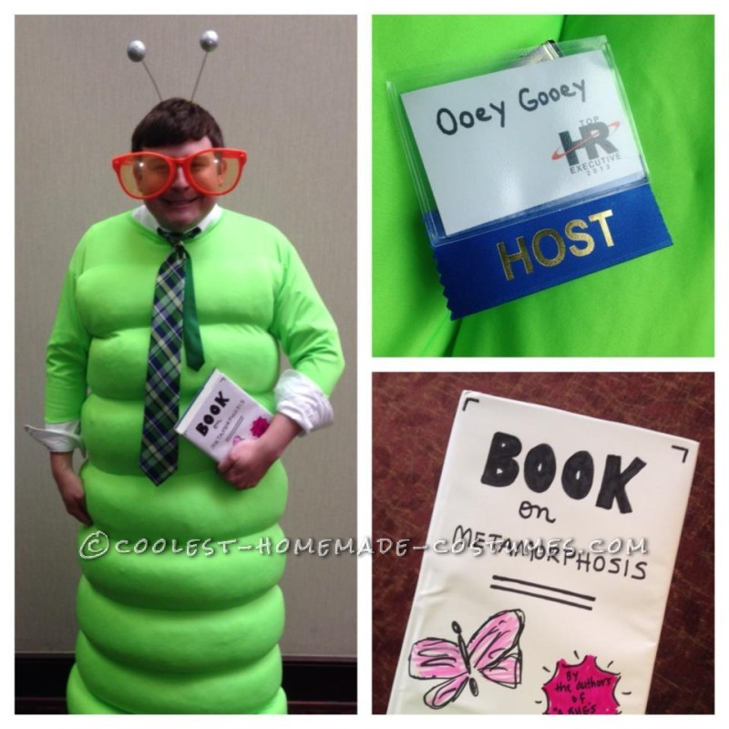 My son as the Book Worm on Halloween, 2013