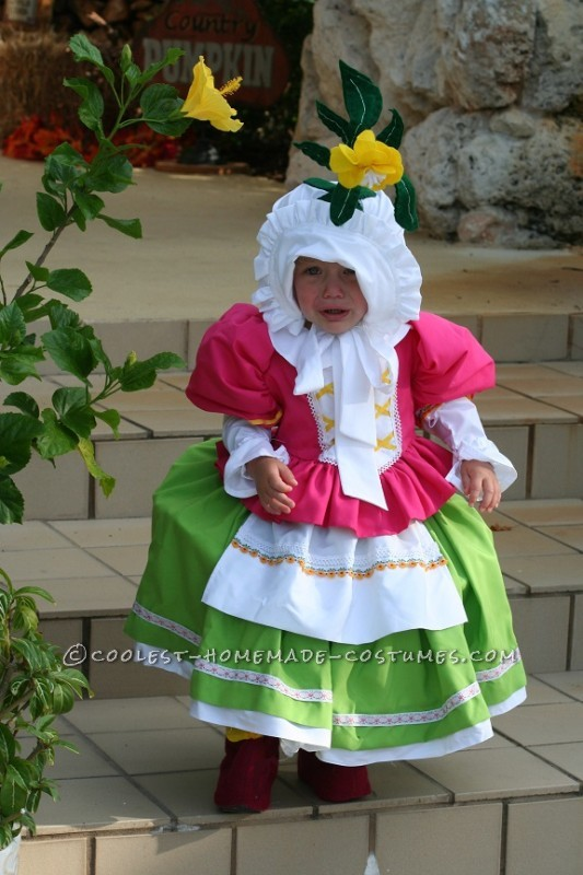 Cute Homemade Toddler Costume: Munchkin from Wizard of Oz
