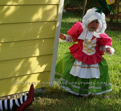 Cute Homemade Toddler Costume: Munchkin from Wizard of Oz - 3
