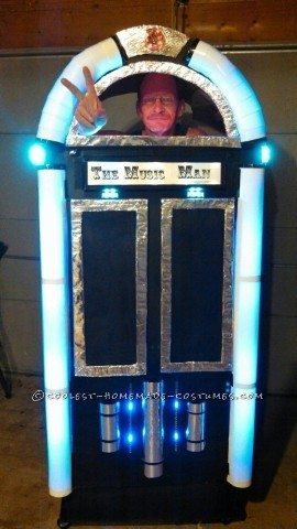 Cool Homemade Music Man Juke Box Costume